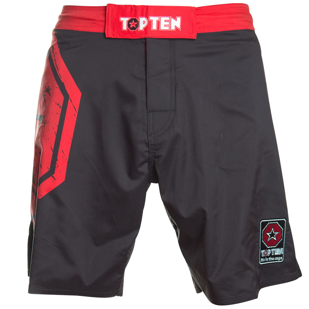 TOP TEN MMA Shorts SuperStar - black/red