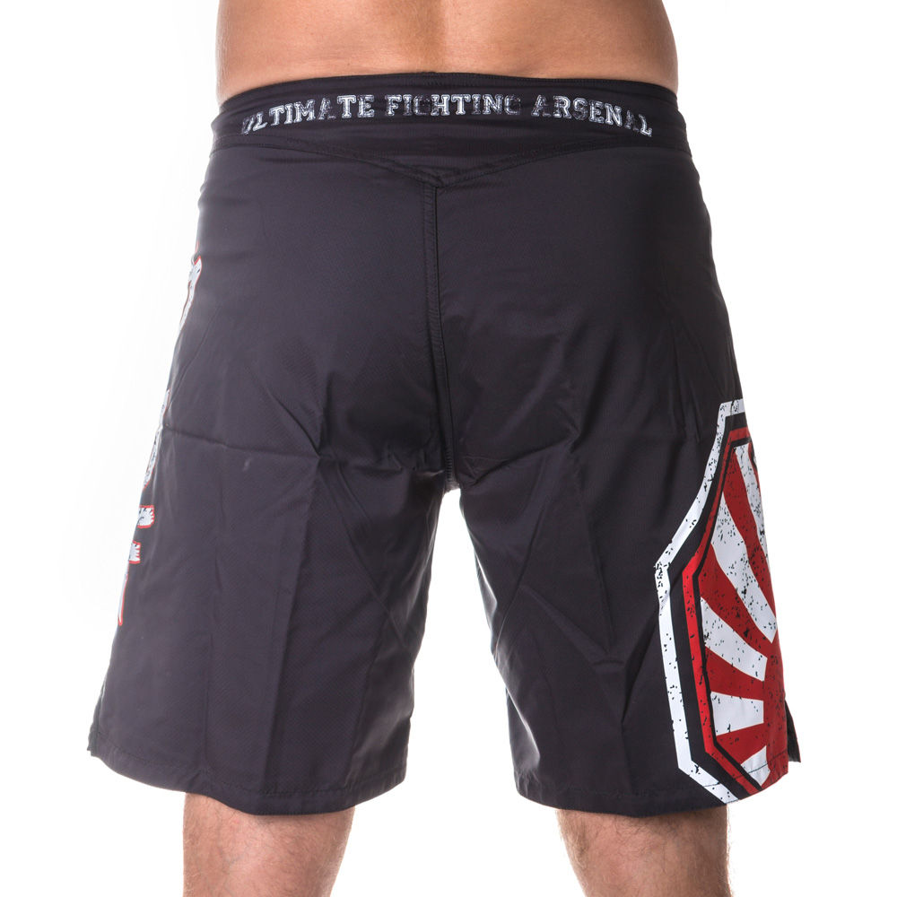 Top Ten MMA SUNRISE Shorts - black/white/red
