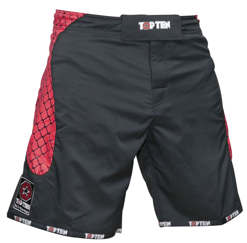 Top Ten MMA Shorts - black/red