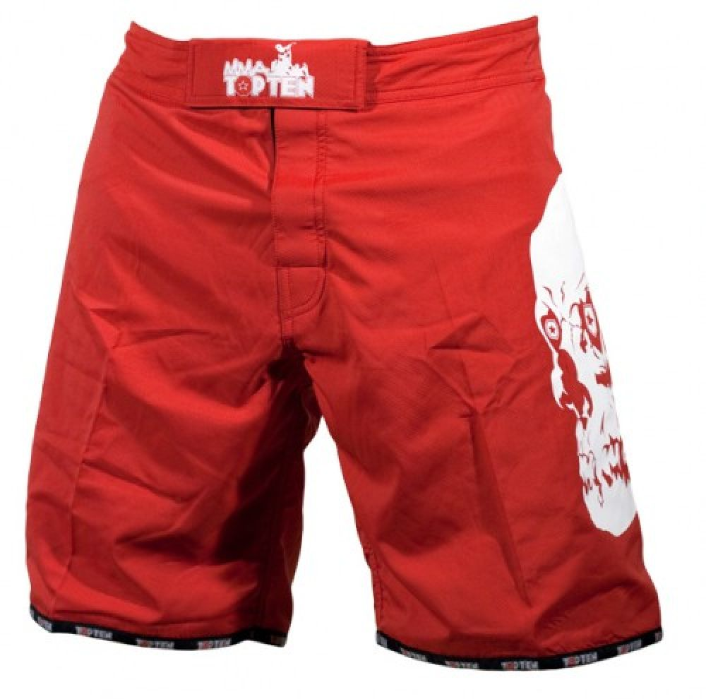 Top Ten MMA Shorts - red/white