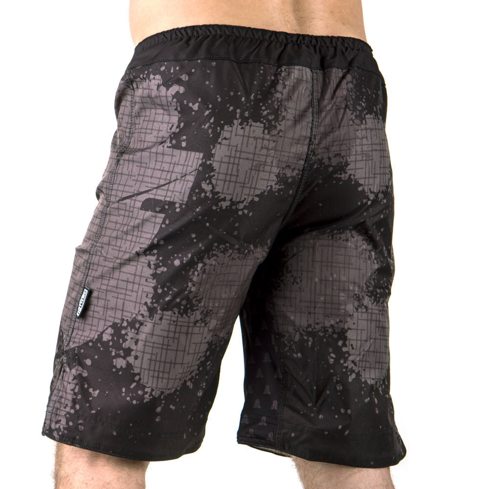 MMA Shorts Fighter SPEED - grey camo