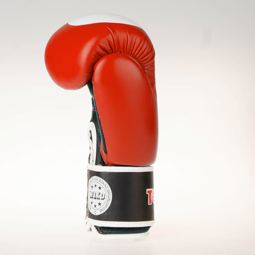 Top Ten Official WAKO Competition Kickboxing Gloves - Red