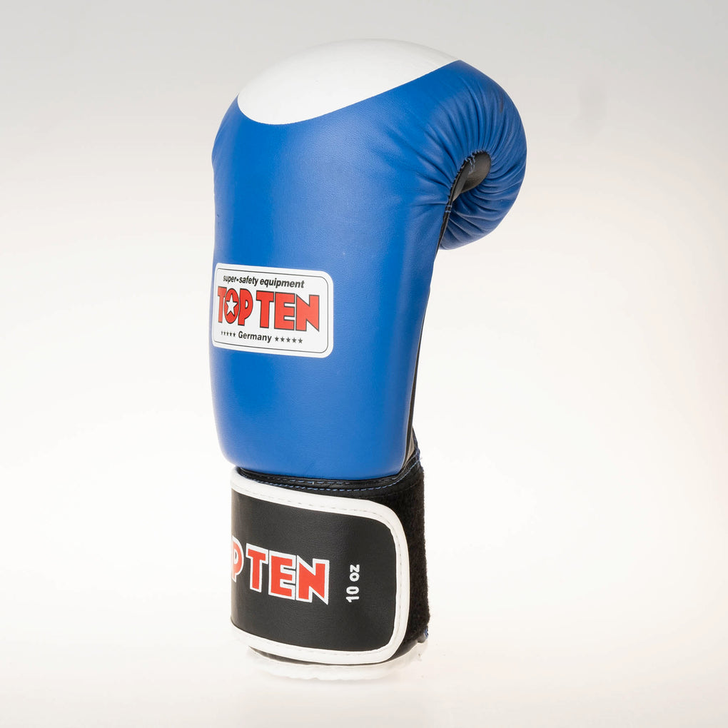 Top Ten Official WAKO Competition Kickboxing Gloves - Blue