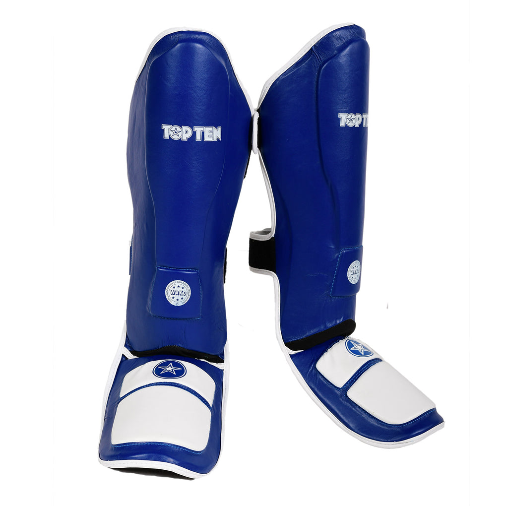 "Shin and Instep Guard ""Lowkick"" WAKO - blue"