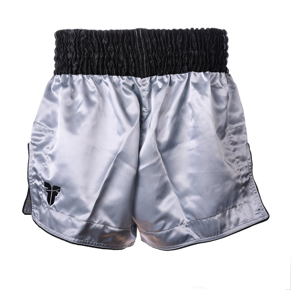 Fighter Thai Shorts Bangkok Plain - silver/black