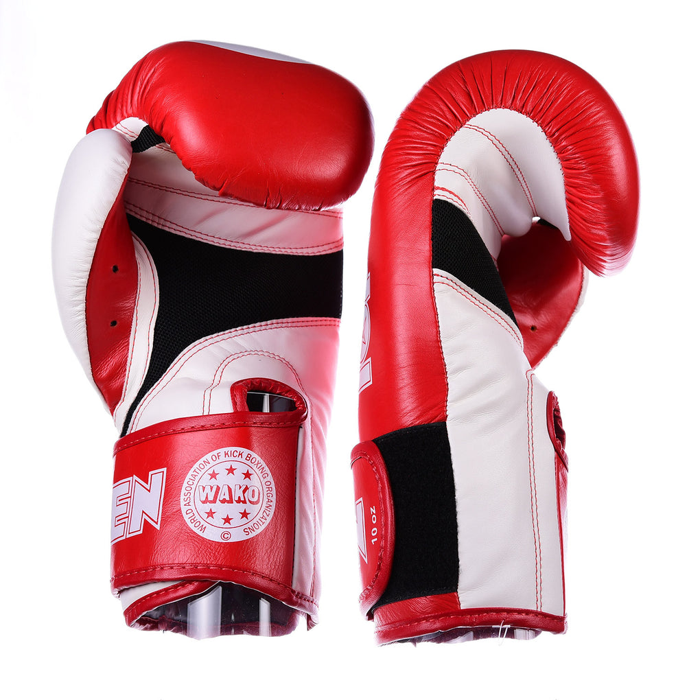 TOP TEN STAR Red/White XLP WAKO Kickboxing Gloves