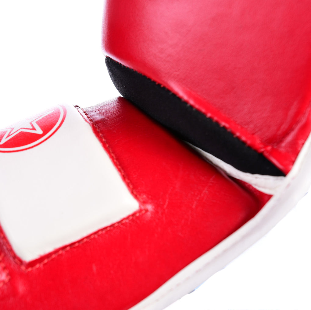 "Shin and Instep Guard ""Lowkick"" WAKO - red"