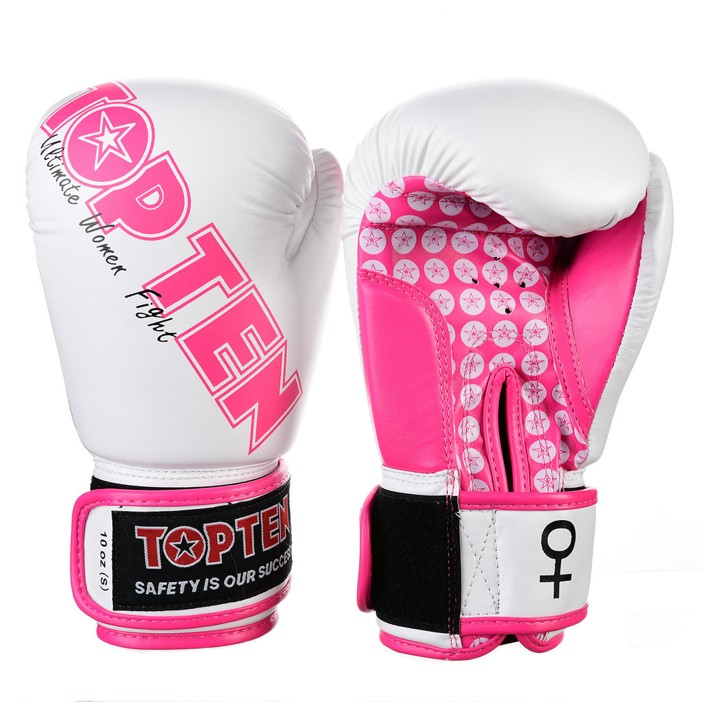 Top Ten Ultimate Women Fight Boxing Gloves - white/pink