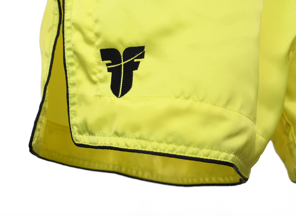 Fighter Thai Shorts Bangkok Plain - neon yellow/black