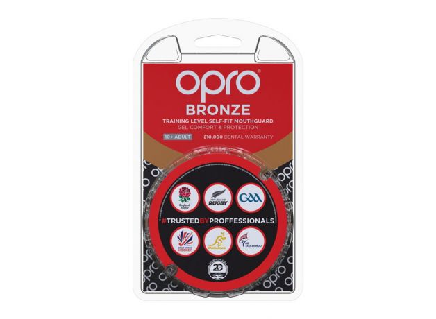 Mouth Guard OPRO GEN4 Bronze - Red