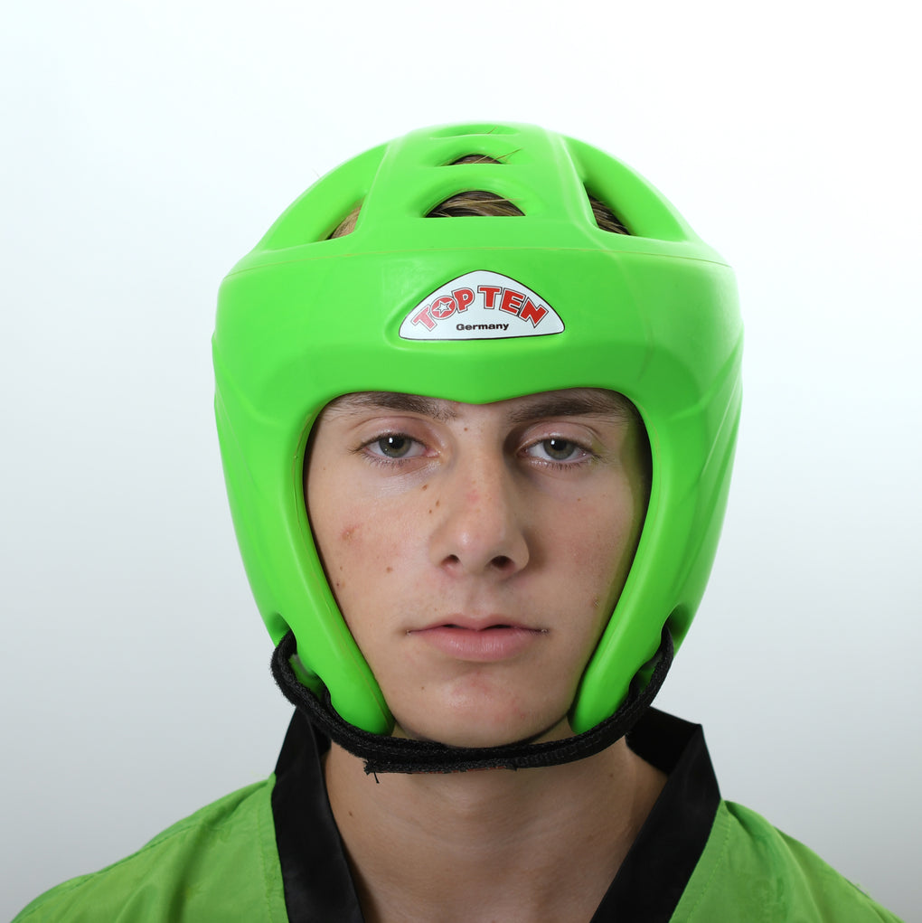 Top Ten Neon Green Avantgarde Head Guard
