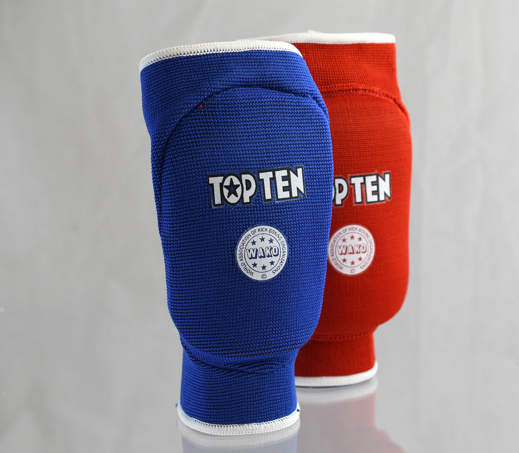 Top Ten Elbow Guard WAKO NASKA Reversible Red/Blue protector