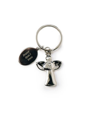 Brave Guardian Angel key ring