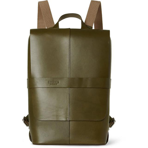 Brooks Piccadilly Leather Knapsack Olive Green
