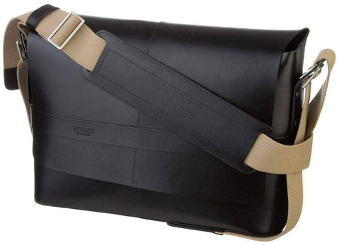 Brooks Leather Messenger Bag Barbican - Black