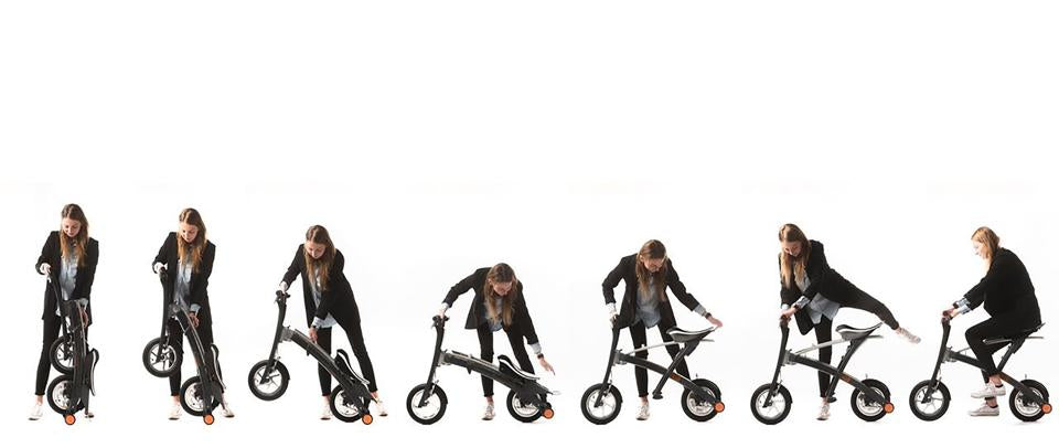 The worlds fastest-folding electric scooter!
