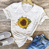 T-shirt Slim Fit Fashion Girasol. 3 colores y 4 Diseños. - Shoppi Kart