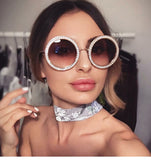 Lentes Retro Luxury Round Crystals. 5 colores
