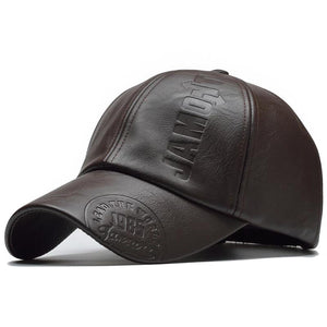 Gorra Snapback PU Leather. 3 tonos.