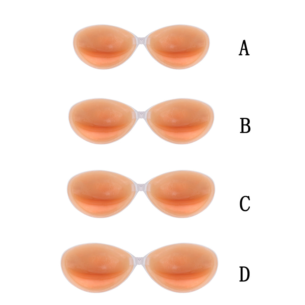Bra Magico Push-Up de Gel de Silicon Auto-Adhesivo Strapless e Invisible. Tallas A, B, C.