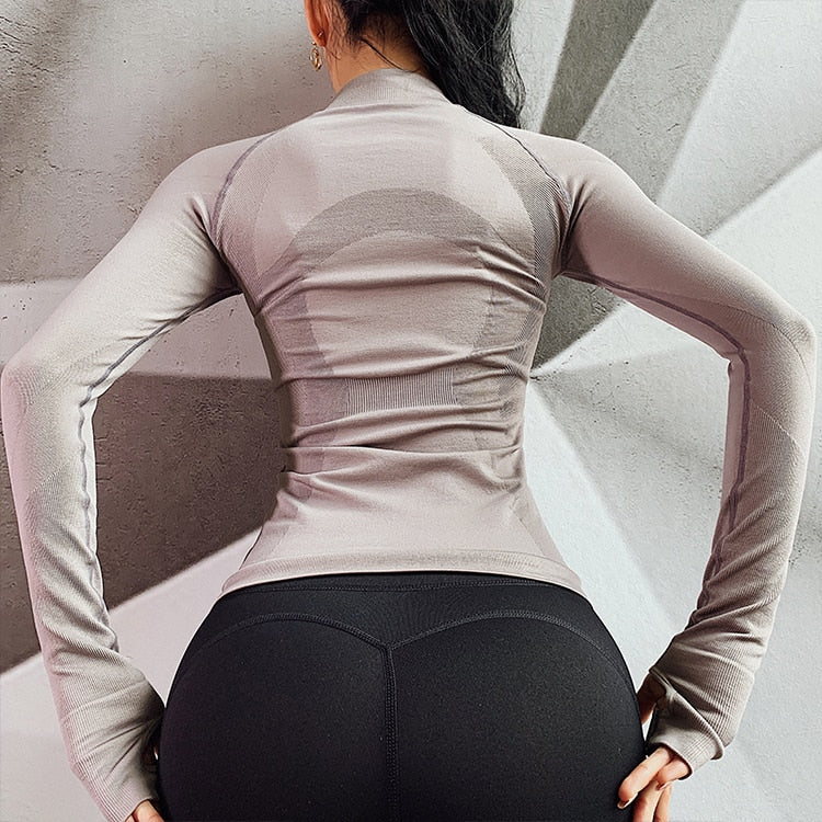 T-shirt Jacket Fitness Slim Fit. 3 colores