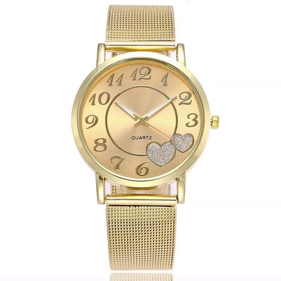 Reloj Mesh Love Heart. Gold & Silver