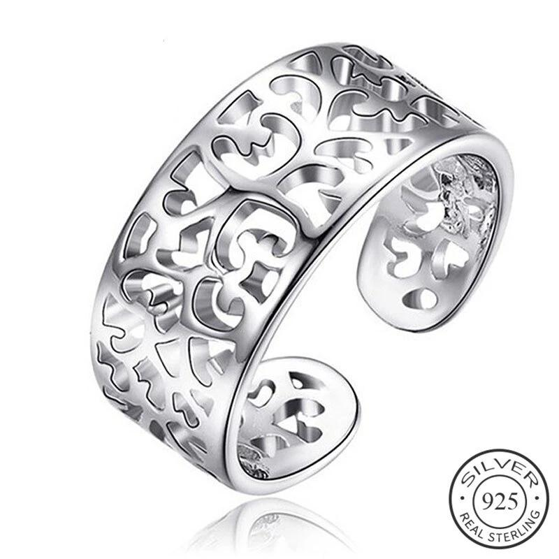 Anillo Ethnic Flower Ajustable, de Plata 925 Sterling.