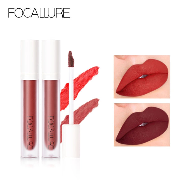 FOCALLURE Lipstick Velvet Matte Liquid Waterproof y Larga Duración. 9 colores.