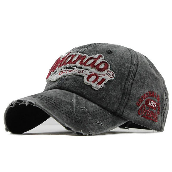Gorra Unisex Baseball Vintage diseño Damage, Parches y Bordados. - Shoppi Kart