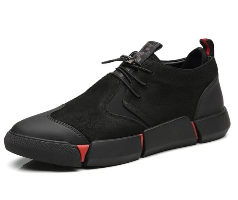Tenis leather negros casuales high quality.