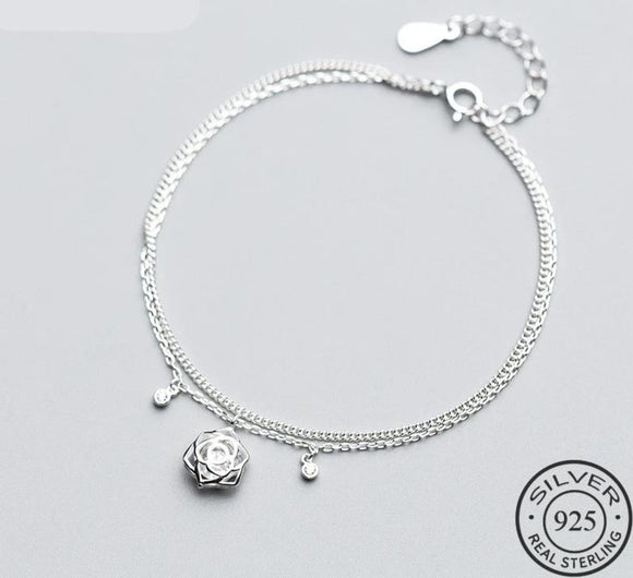Brazalete Romantic Hollow de Plata 925 Sterling.
