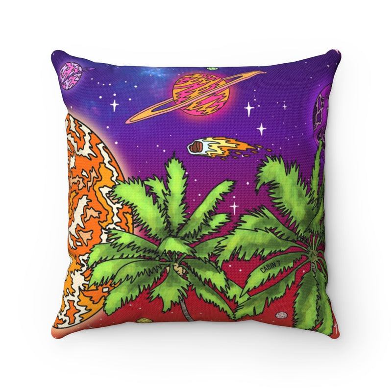 Space Sunset Square Pillow