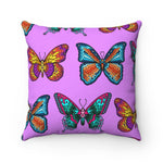 Mosaic Butterflies Square Pillow