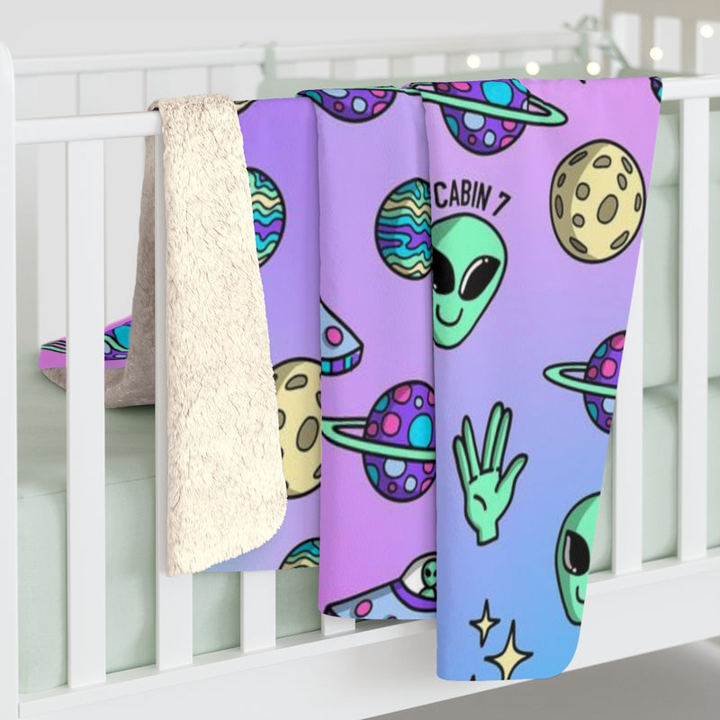"""Aliens"" Sherpa Fleece Blanket"