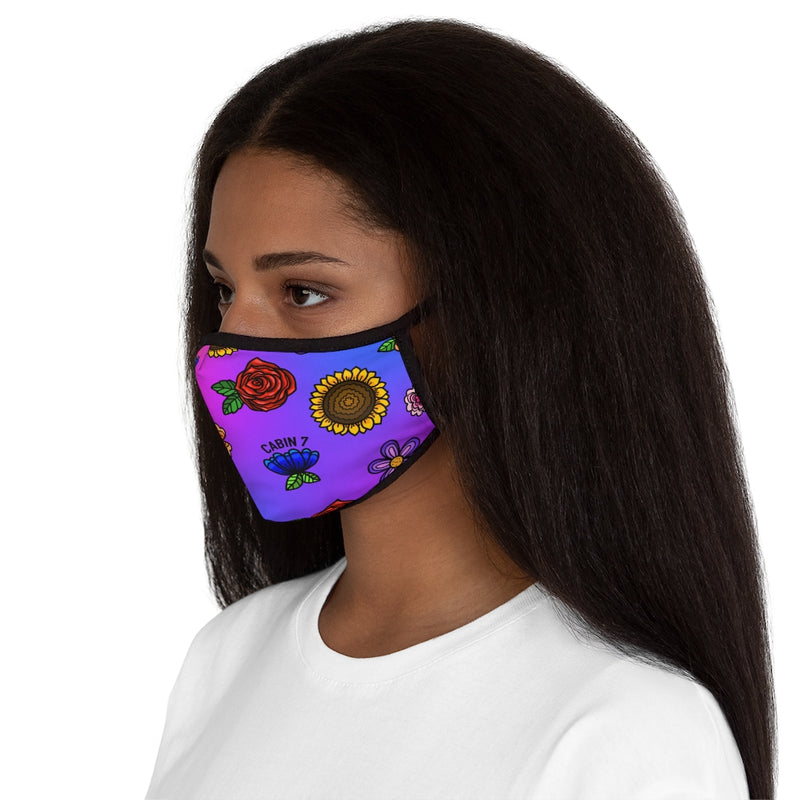 Fluorescent Flowers Face Mask