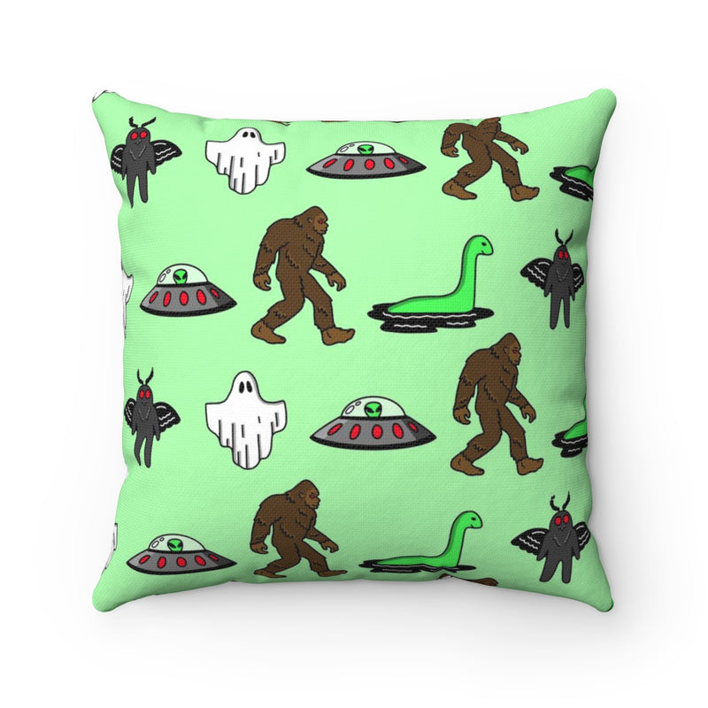 Cryptids Square Pillow