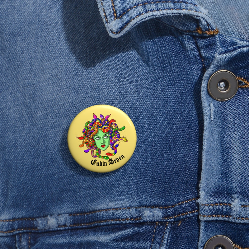 Psychedelic Medusa Pin