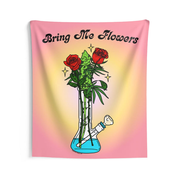 """Bring Me Flowers"" Wall Tapestry"