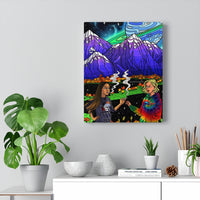 """Starry Lake"" Canvas Print"