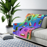 """Four Twenty"" Sherpa Fleece Blanket"