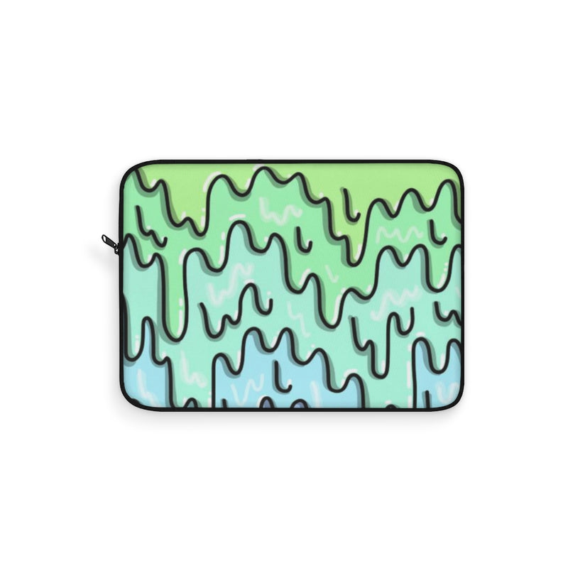 Mint & Aqua Slime Laptop Sleeve