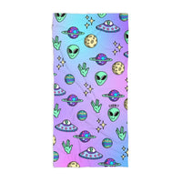Aliens Beach Towel
