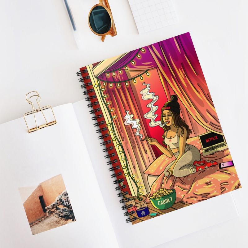 Cozy Evening Spiral Notebook