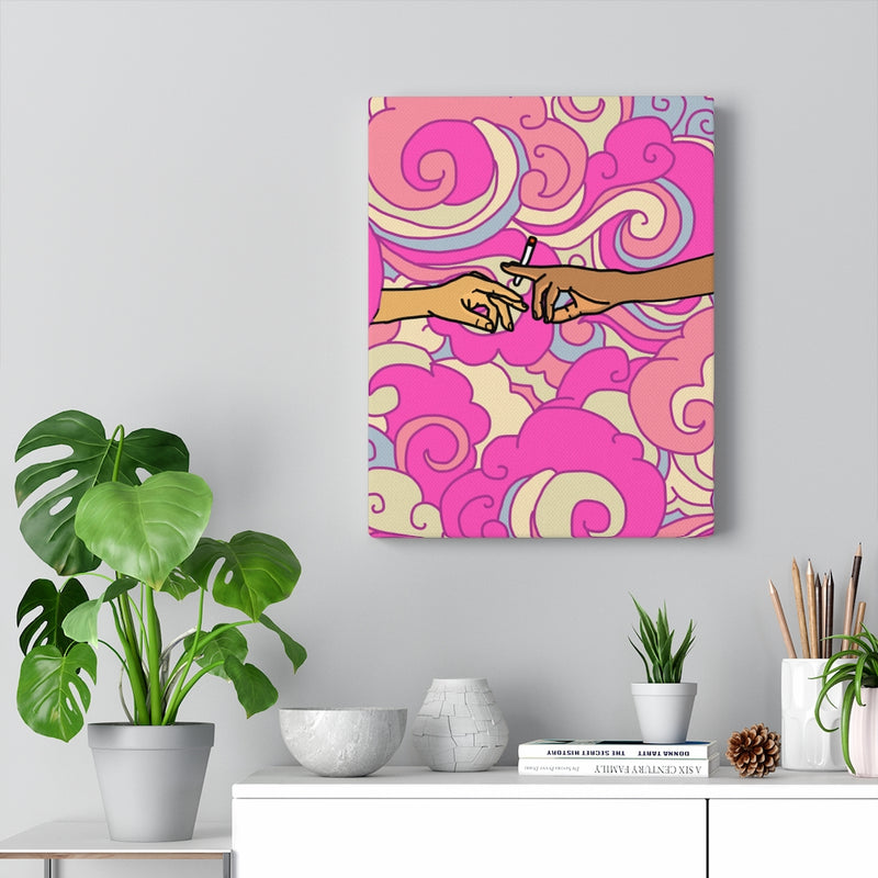 """Joint Custody"" (PINK) Canvas Print"