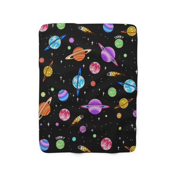 """Starry Sky"" Sherpa Fleece Blanket"
