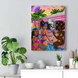 """Beach Club"" Canvas Print"