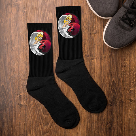 NEAL WOLLENBERG COLLABORATION BEER ART - LOVE/SIN Socks
