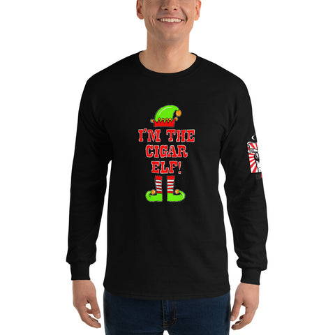 XMASH COLLECTION 2020 - I'M THE CIGAR ELF Men's Long Sleeve Shirt
