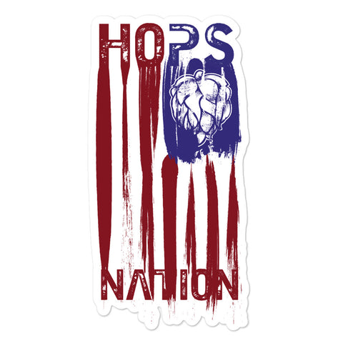 Neal Wollenberg COLLABORATION BEER ART - HOPS NATION Bubble-free stickers