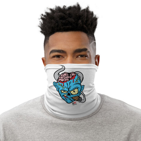 Cigar Art (CIGART) - Blue Zombie Face Covering Neck Gaiter